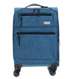 e9e83300941f4 W68 Mała miękka walizka Sumatra OSLO Niebieska