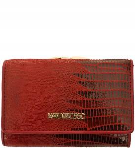 56c0cfecd9ecd P321 Damski portfel marki Mato Grosso skóra nat. czerwony wąż