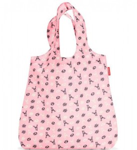 R01 Siatka mini maxi shopper Reisenthel bavaria rose wzór 38