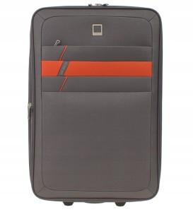 fbc1c8b27a408 W76 Średnia miękka walizka MVBAGS Szary