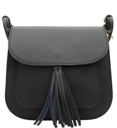4db10427a3540 C191 Mała klasyczna torebka skórzana czarna Sklep Internetowy VASCO