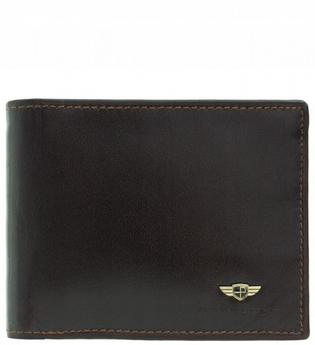 016e8f55a69f8 P340 Mały Męski portfel marki Peterson skóra RFID brązowy.  dc3e9430687acc89ceea69558bccf7a7