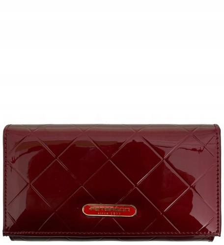 283a690b9db7a P345 Damski portfel marki Peterson skóra naturalna czerwony.  f70947fea18644f55faba353ba76800a