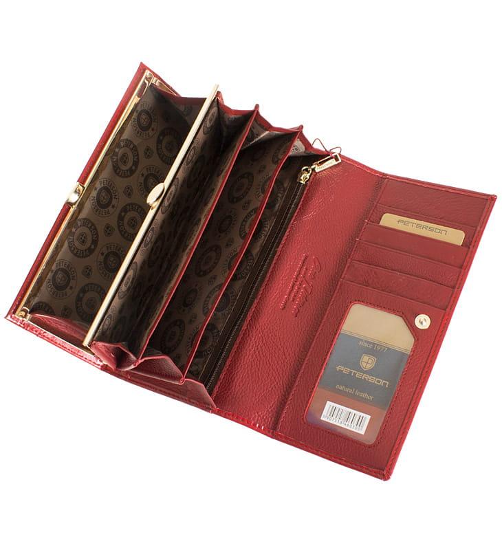 e33b0b216417b P199 Damski portfel skórzany Peterson czerwony Sklep Internetowy VASCO